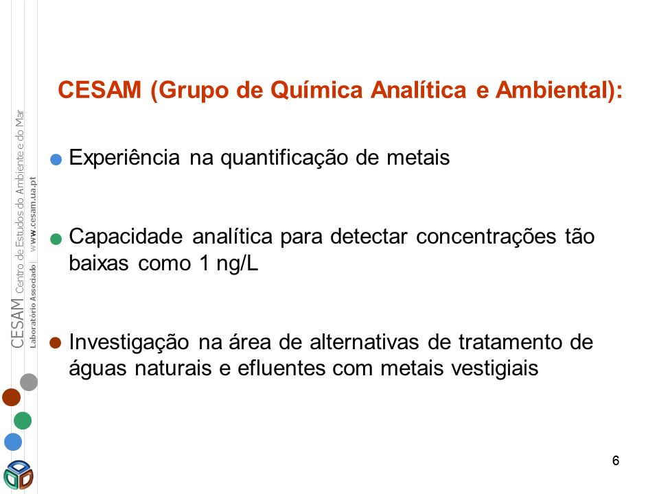 CESAM (Grupo de Química Analítica e Ambiental):