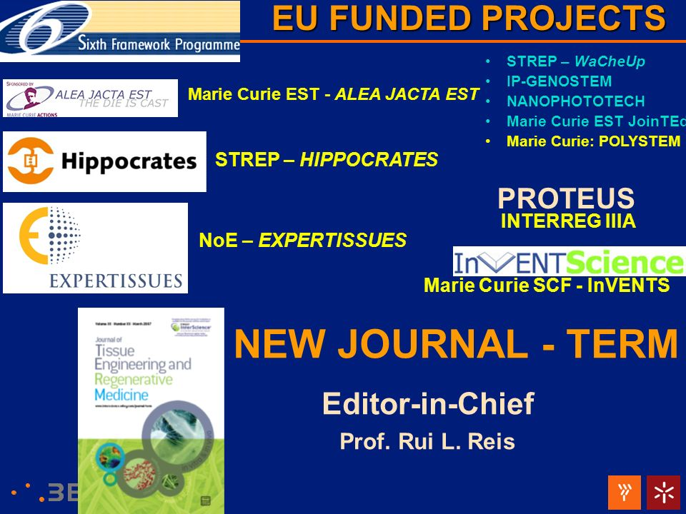 NEW JOURNAL - TERM EU FUNDED PROJECTS Editor-in-Chief PROTEUS