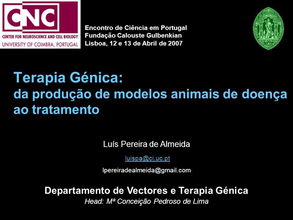 Terapia Génica: da produção de modelos animais de doença ao tratamento