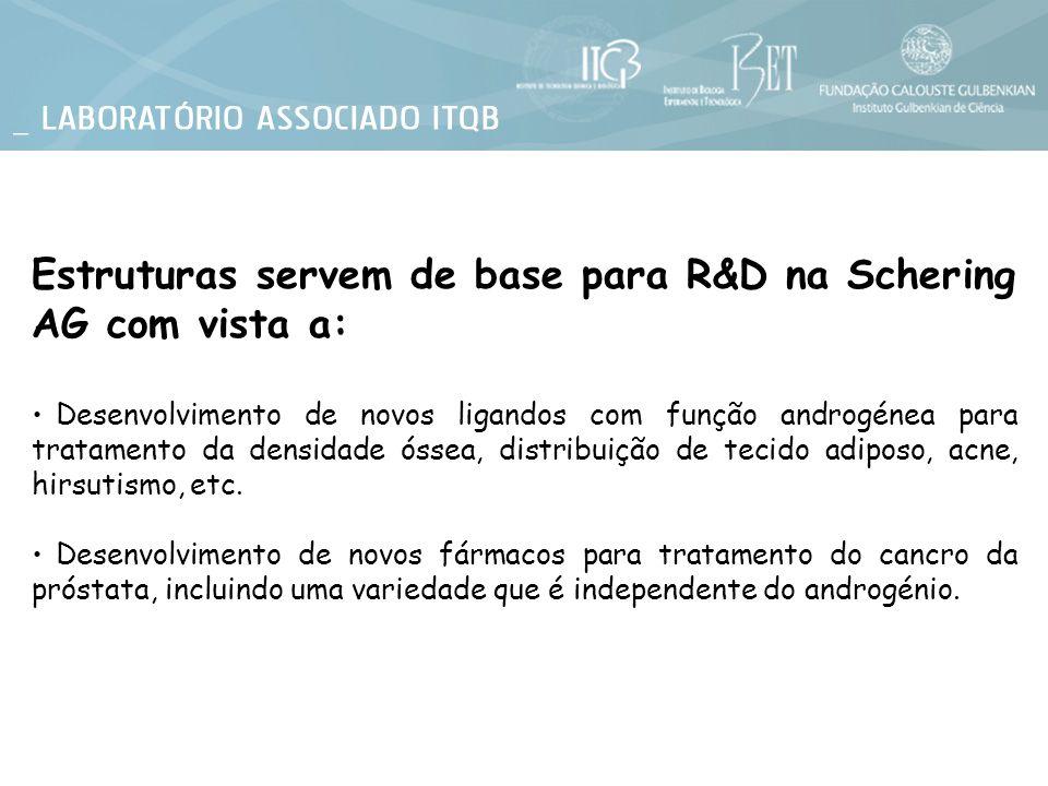 Estruturas servem de base para R&D na Schering AG com vista a: