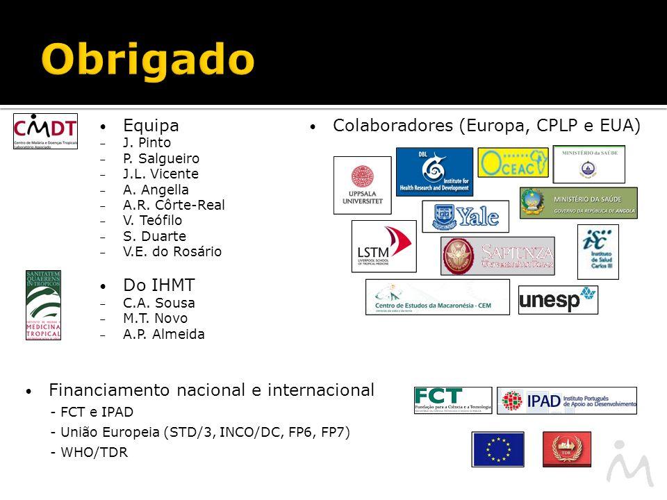 Obrigado Equipa Do IHMT Colaboradores (Europa, CPLP e EUA)