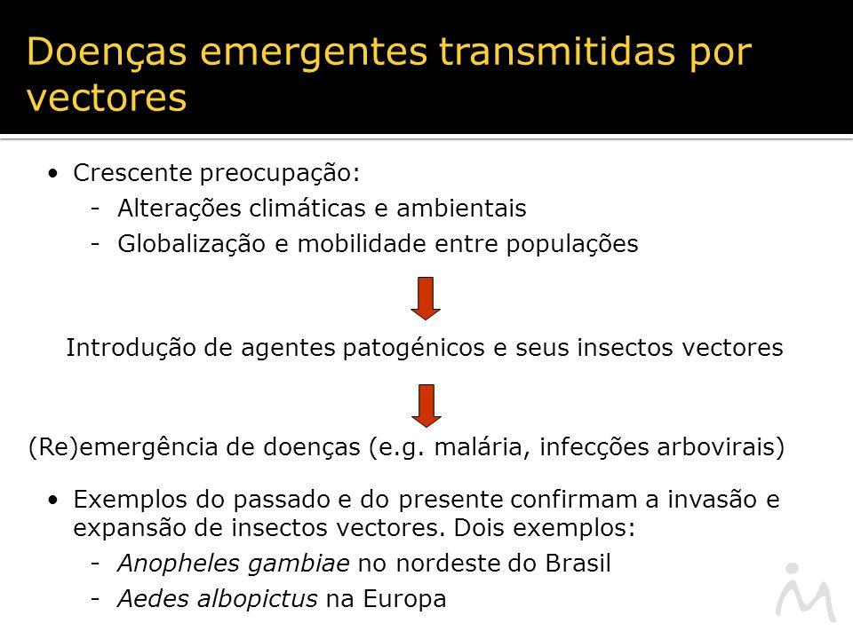 Introdução de agentes patogénicos e seus insectos vectores