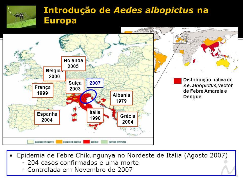 Introdução de Aedes albopictus na Europa