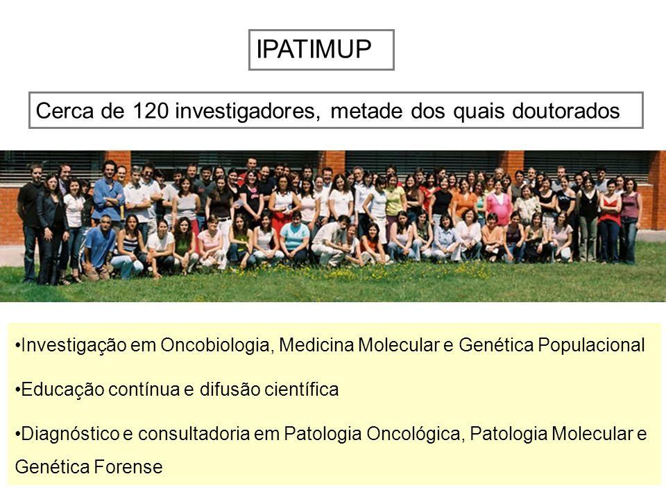 IPATIMUP Cerca de 120 investigadores, metade dos quais doutorados