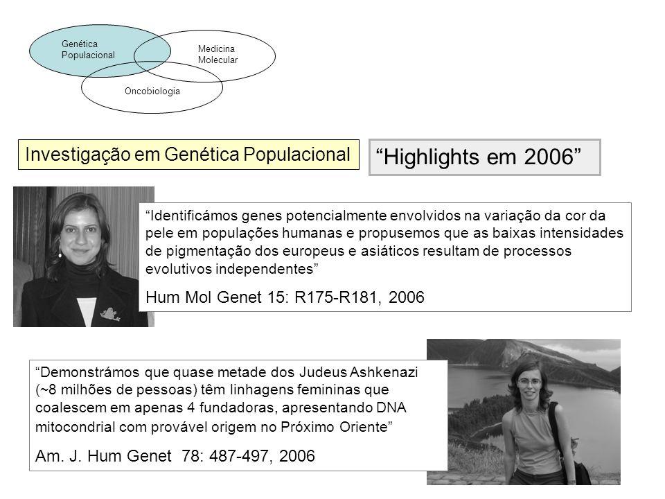Highlights em 2006 Investigação em Genética Populacional