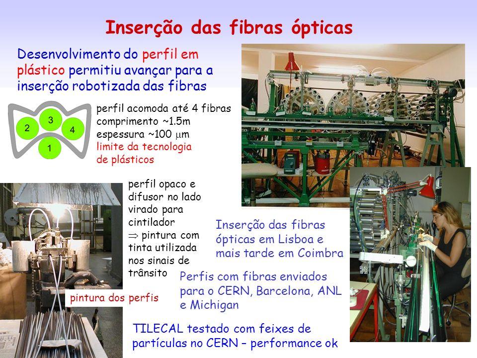 Inserção das fibras ópticas