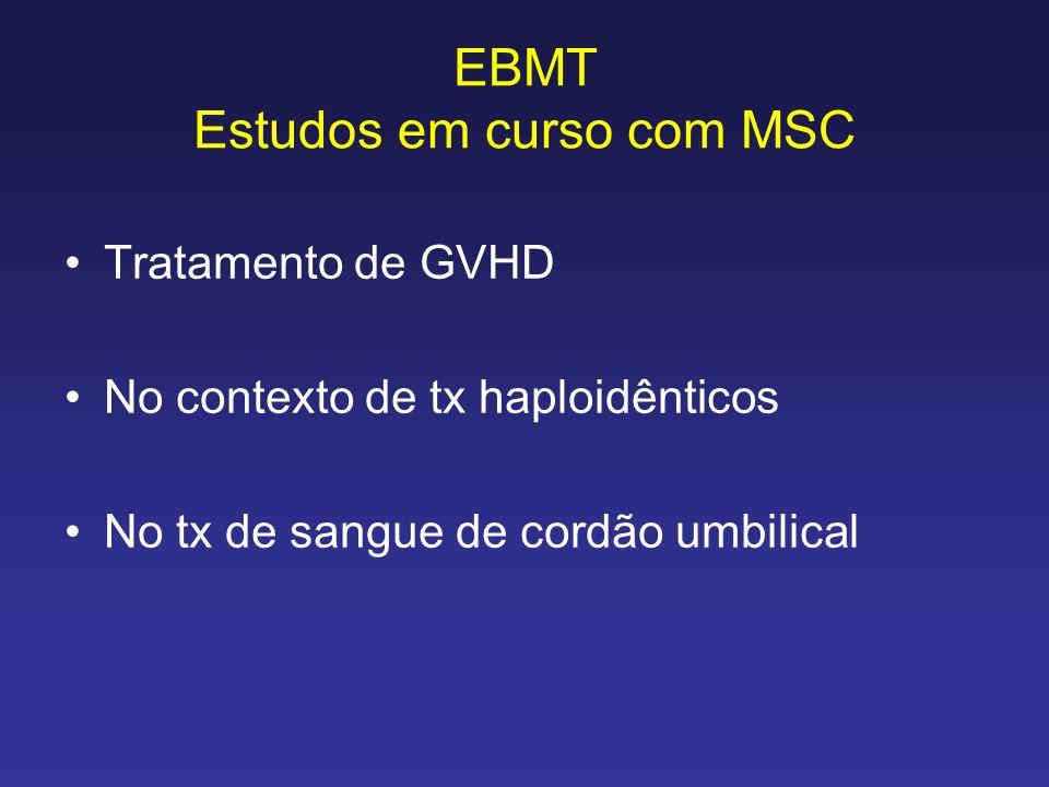 EBMT Estudos em curso com MSC