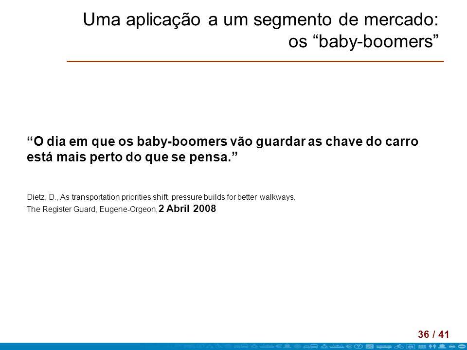 Uma aplicação a um segmento de mercado: os baby-boomers