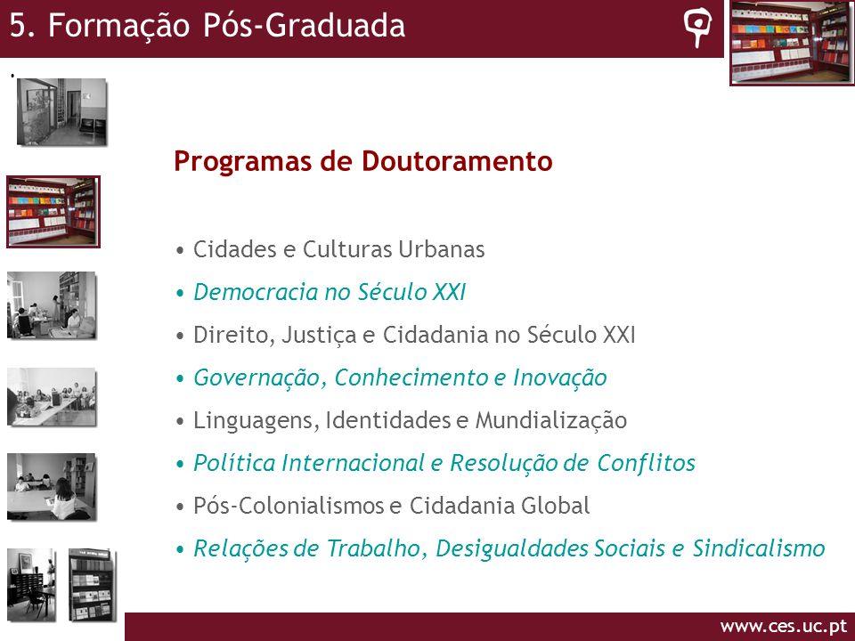 5. Formação Pós-Graduada