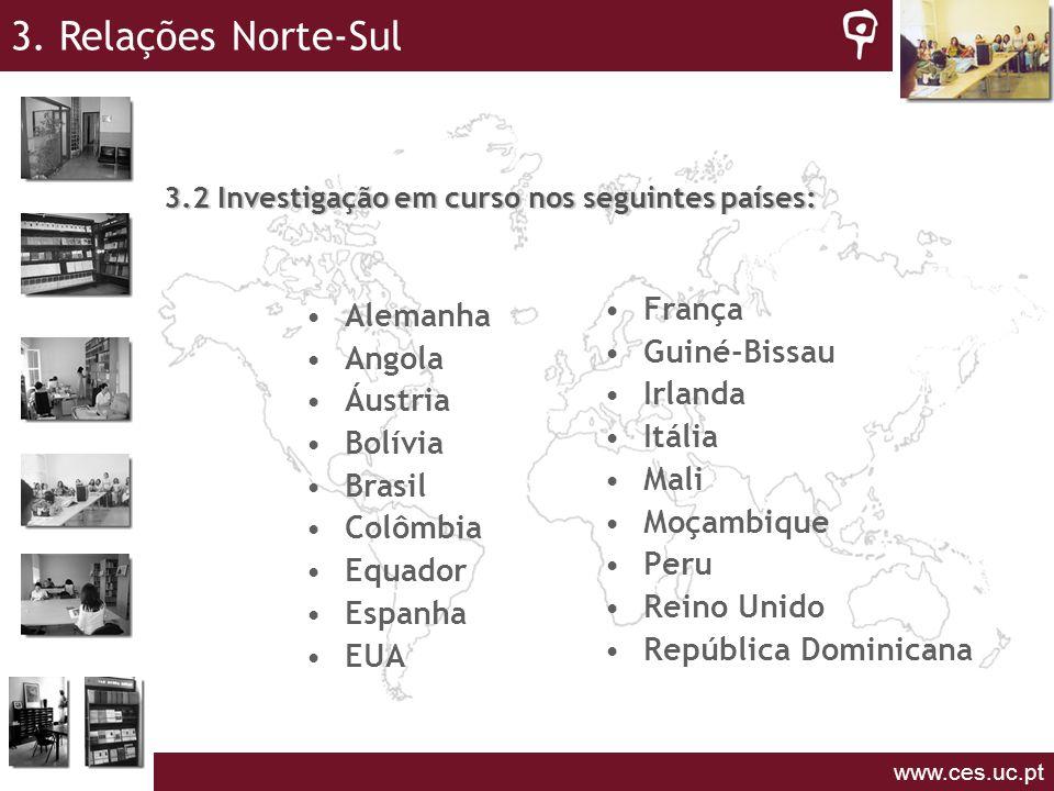 3.2 Investigação em curso nos seguintes países: