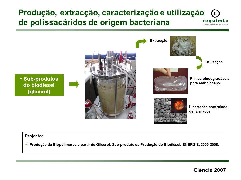Sub-produtos do biodiesel (glicerol)