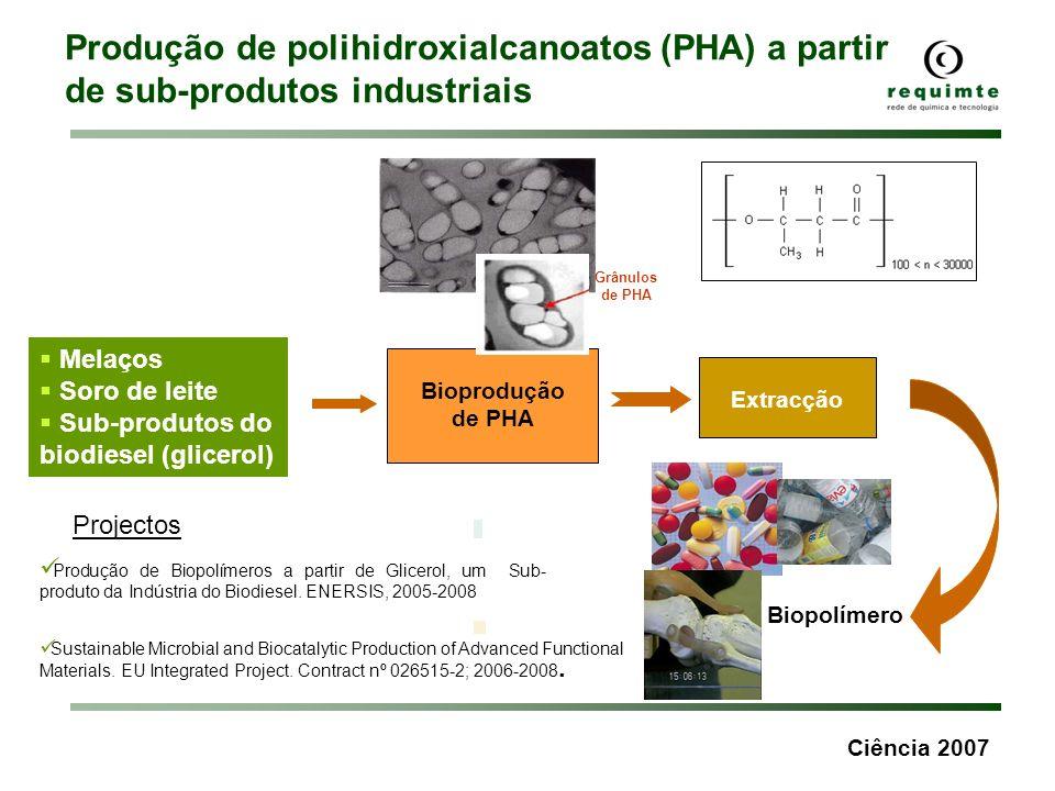 Produção de polihidroxialcanoatos (PHA) a partir de sub-produtos industriais