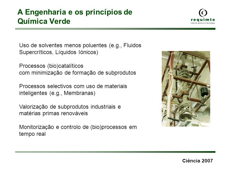 A Engenharia e os princípios de Química Verde