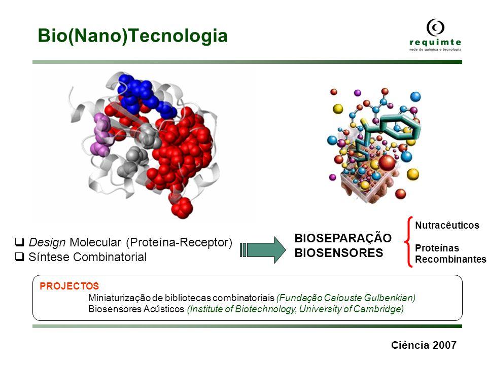 Bio(Nano)Tecnologia BIOSEPARAÇÃO Design Molecular (Proteína-Receptor)