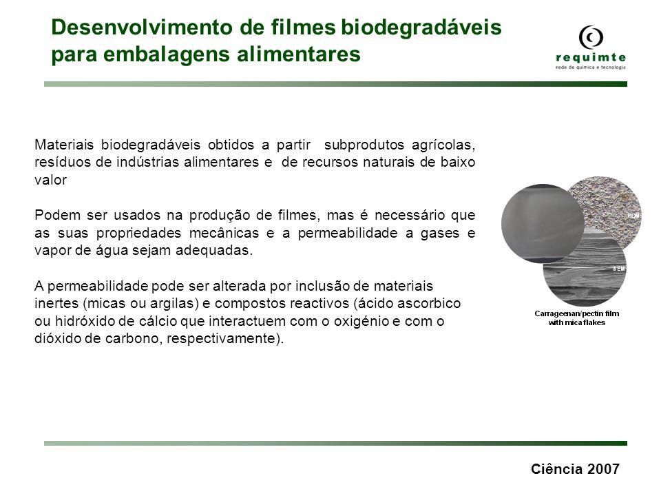 Desenvolvimento de filmes biodegradáveis para embalagens alimentares