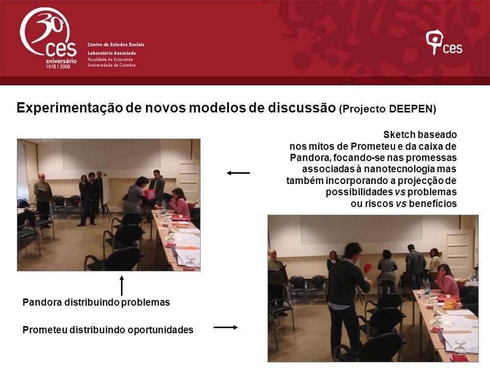 Experimentação de novos modelos de discussão (Projecto DEEPEN)