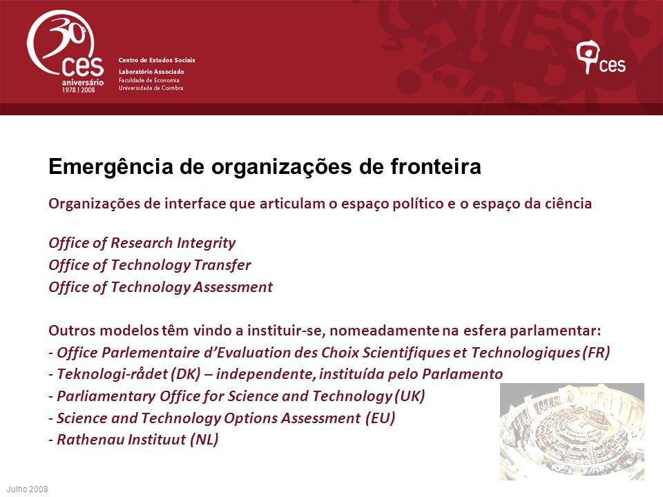 Emergência de organizações de fronteira