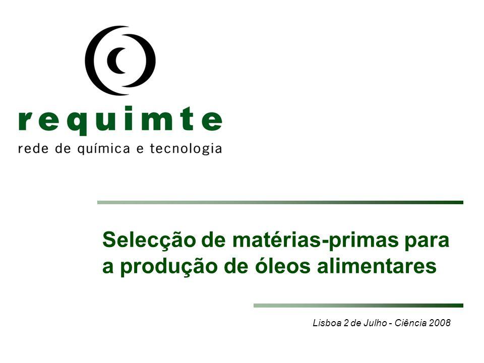 Selecção de matérias-primas para a produção de óleos alimentares