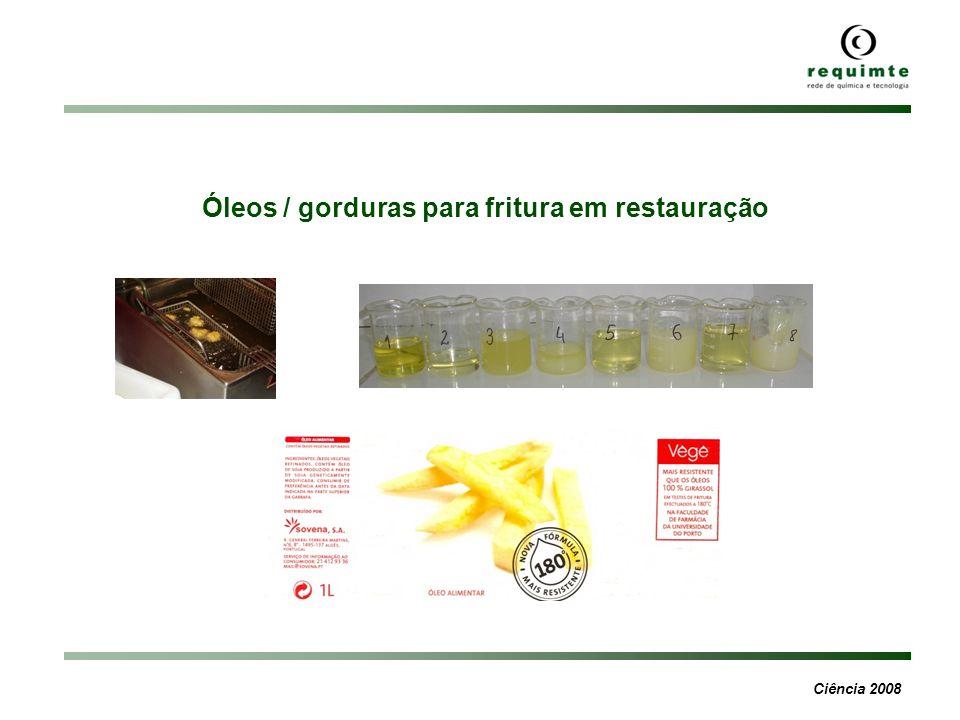 Óleos / gorduras para fritura em restauração