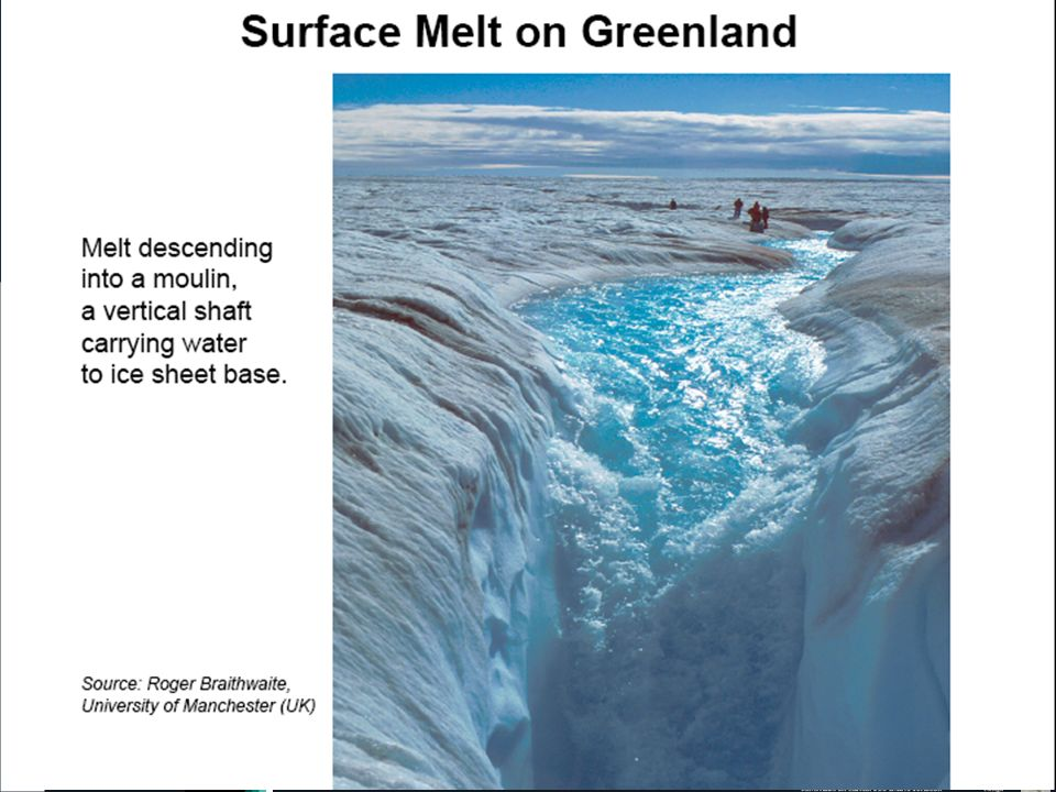 Gelo derrete forma grandes caudais de agua doce que entram no oceano