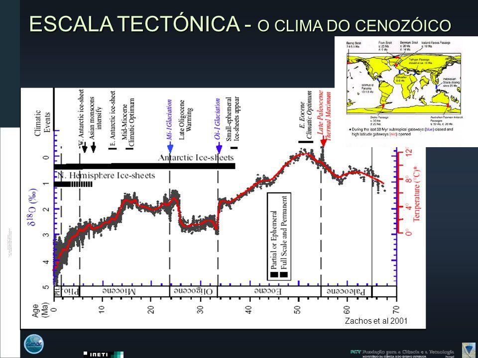 ESCALA TECTÓNICA - O CLIMA DO CENOZÓICO