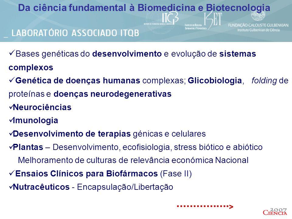 Da ciência fundamental à Biomedicina e Biotecnologia
