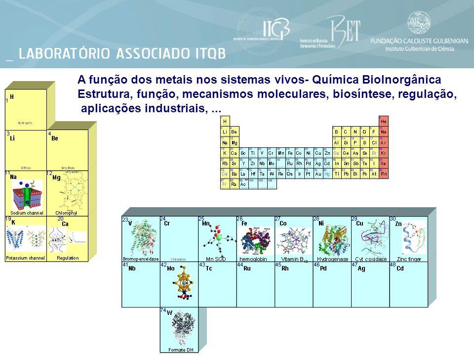 A função dos metais nos sistemas vivos- Química BioInorgânica