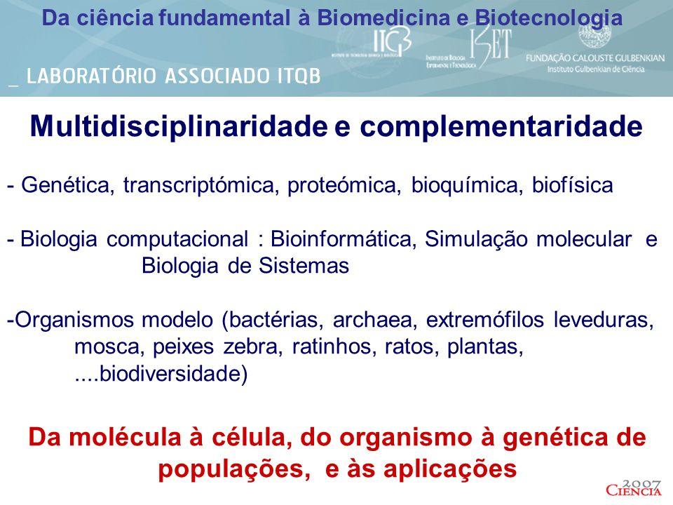 Multidisciplinaridade e complementaridade