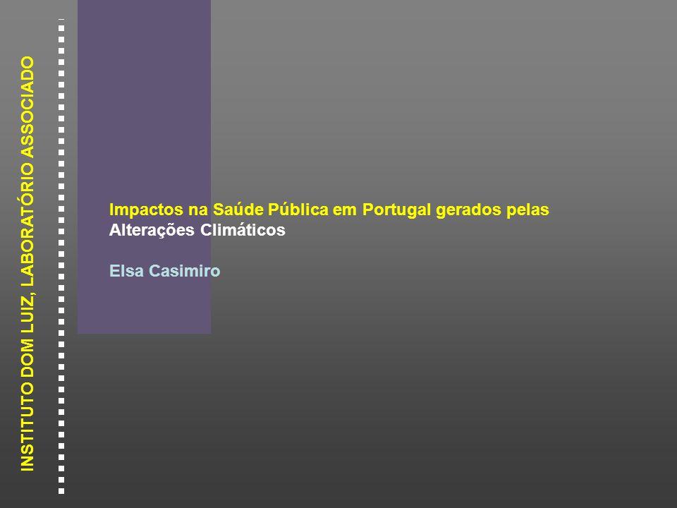Impactos na Saúde Pública em Portugal gerados pelas Alterações Climáticos