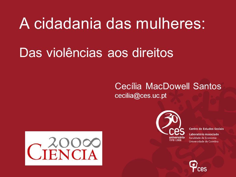 A cidadania das mulheres: Das violências aos direitos