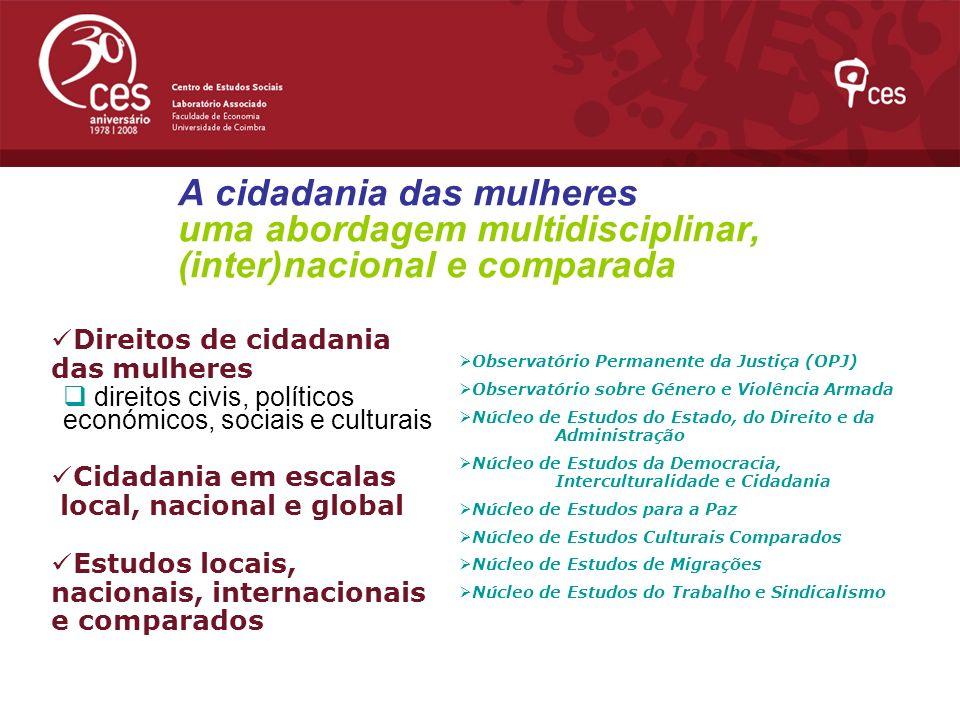 A cidadania das mulheres uma abordagem multidisciplinar, (inter)nacional e comparada
