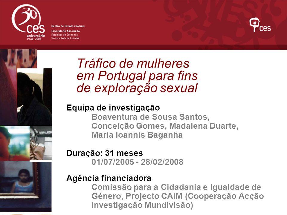 Tráfico de mulheres em Portugal para fins de exploração sexual