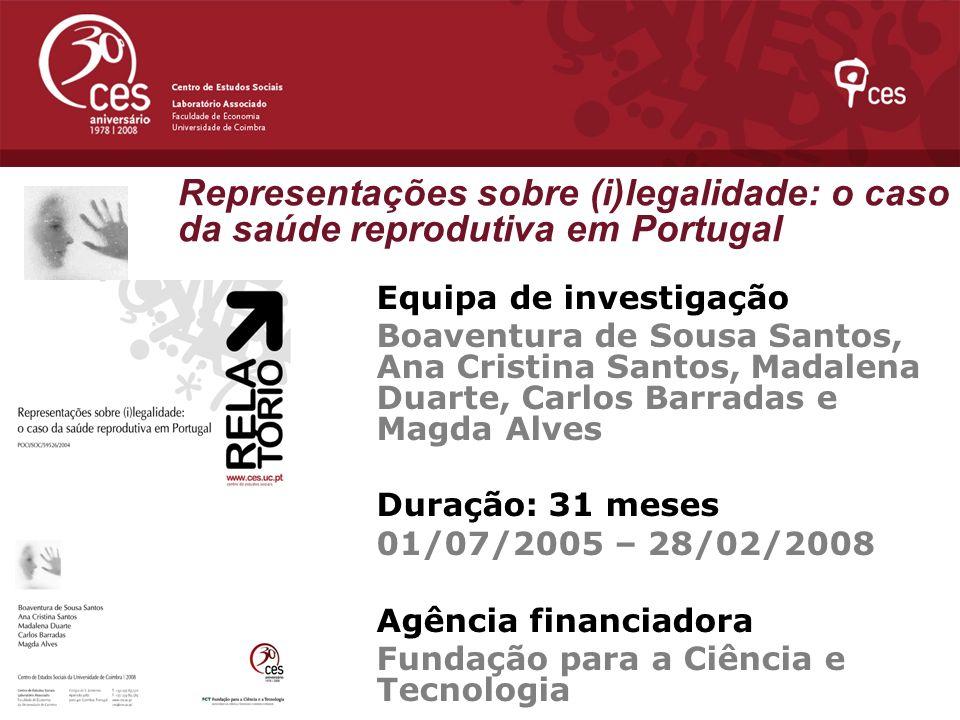 Representações sobre (i)legalidade: o caso da saúde reprodutiva em Portugal