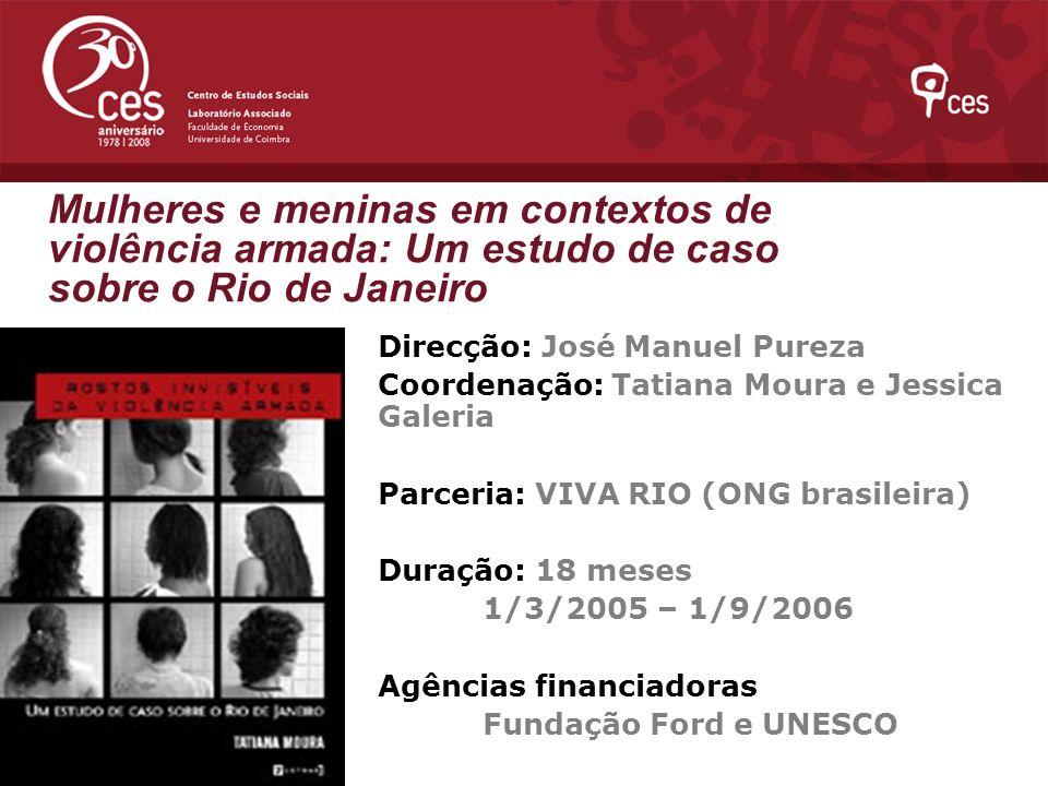 Mulheres e meninas em contextos de violência armada: Um estudo de caso sobre o Rio de Janeiro