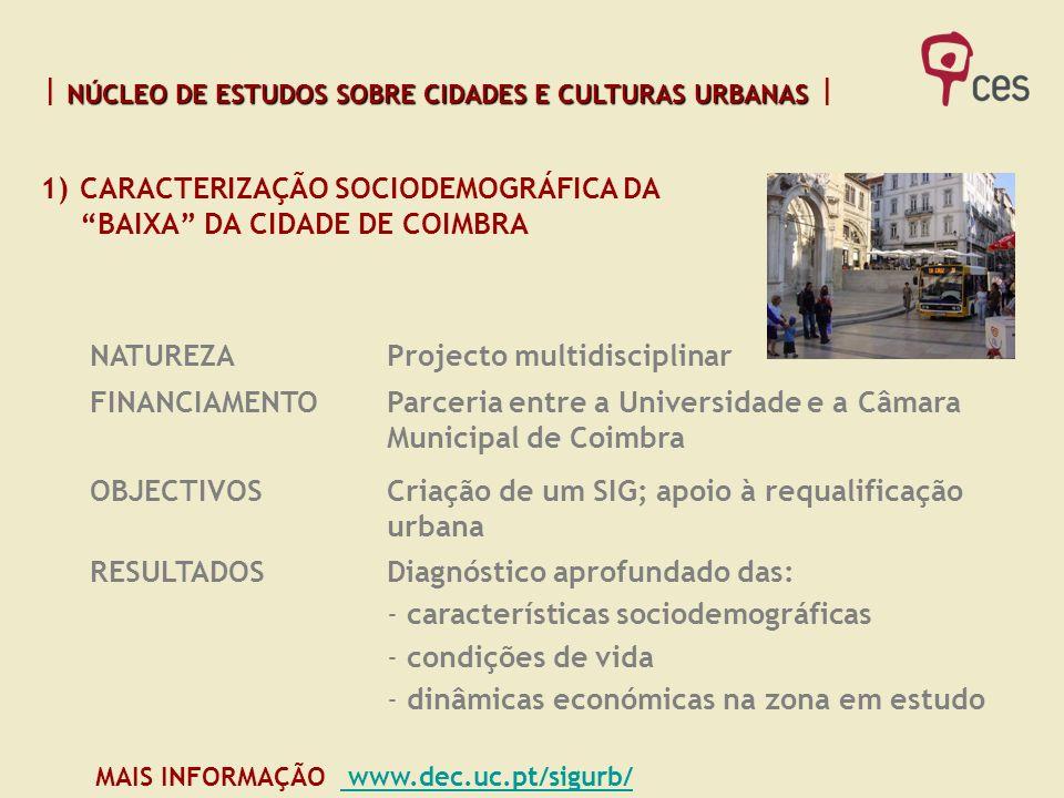 CARACTERIZAÇÃO SOCIODEMOGRÁFICA DA BAIXA DA CIDADE DE COIMBRA