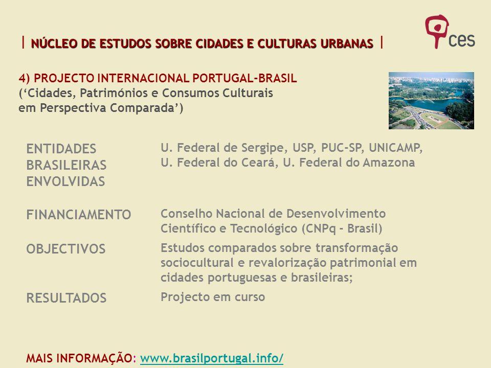 ENTIDADES BRASILEIRAS ENVOLVIDAS