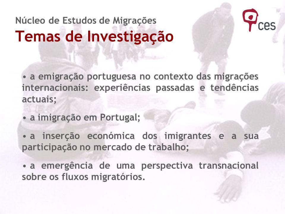 Núcleo de Estudos de Migrações Temas de Investigação
