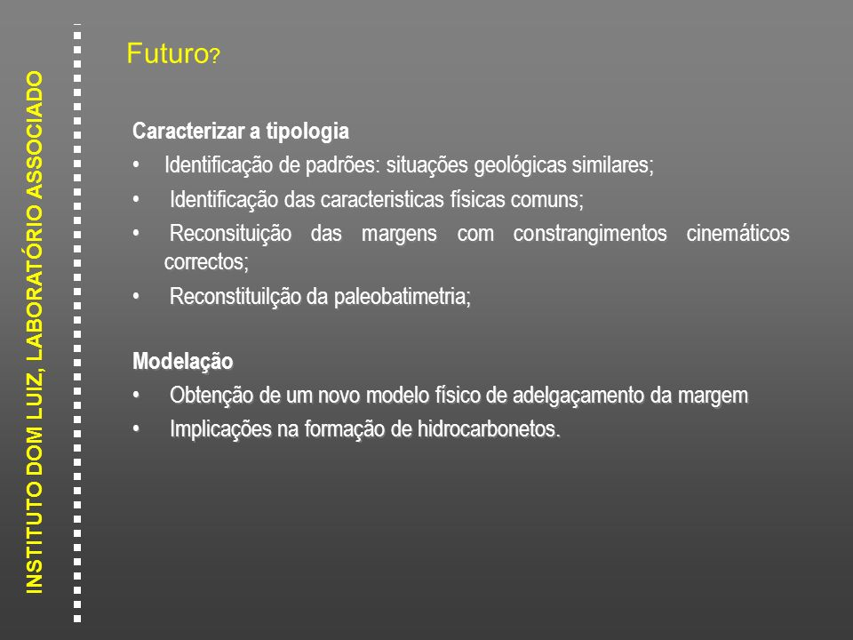Futuro Caracterizar a tipologia