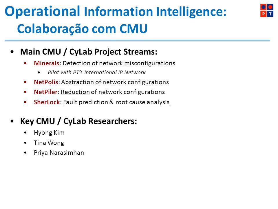 Operational Information Intelligence: Colaboração com CMU