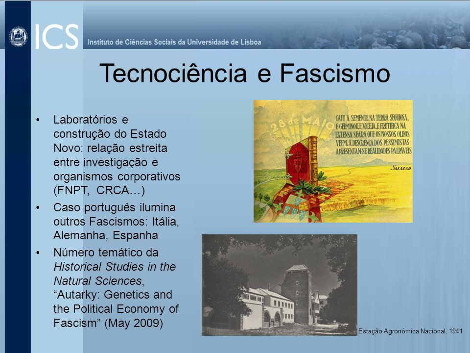 Tecnociência e Fascismo