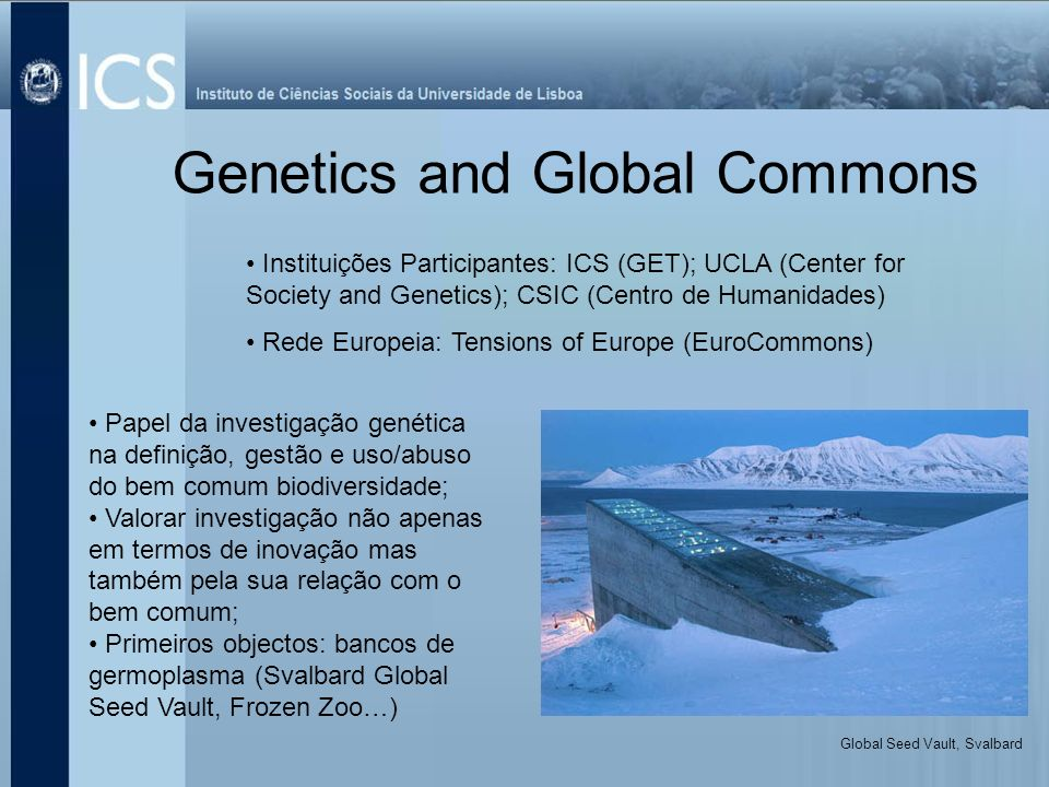 Genetics and Global Commons