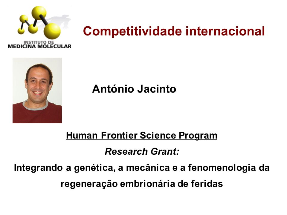 Competitividade internacional Human Frontier Science Program