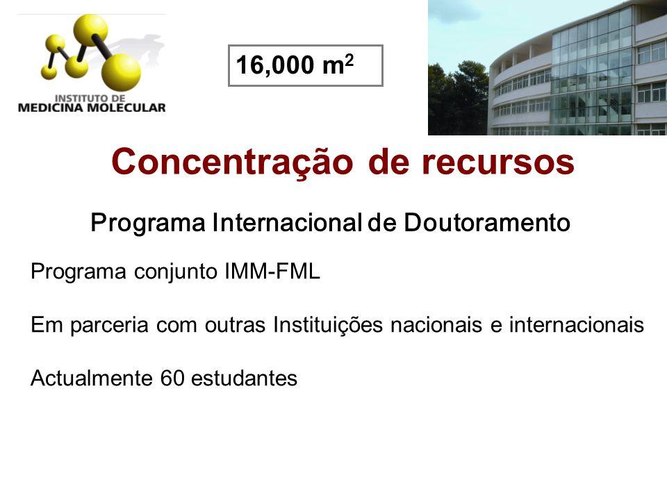 Concentração de recursos Programa Internacional de Doutoramento
