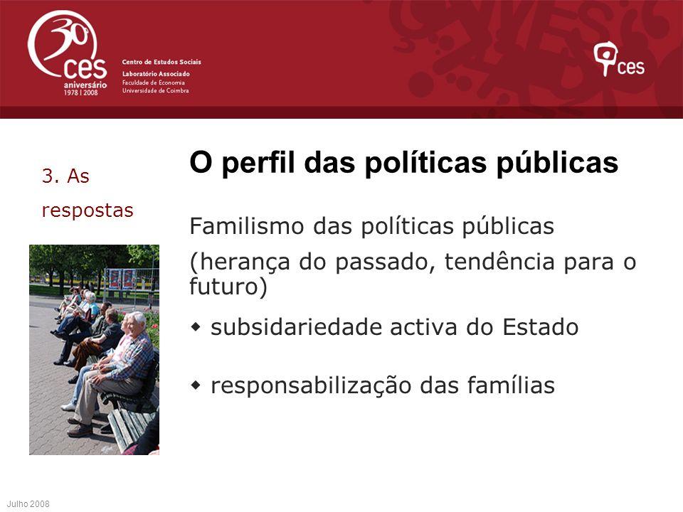 O perfil das políticas públicas