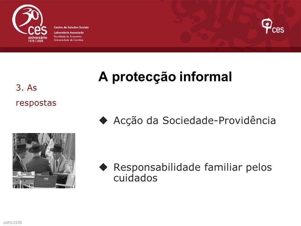 A protecção informal Acção da Sociedade-Providência