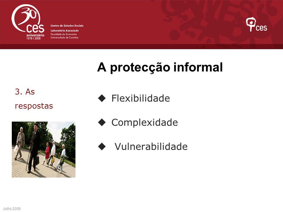 A protecção informal Flexibilidade Complexidade Vulnerabilidade