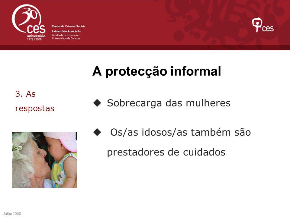 A protecção informal Sobrecarga das mulheres