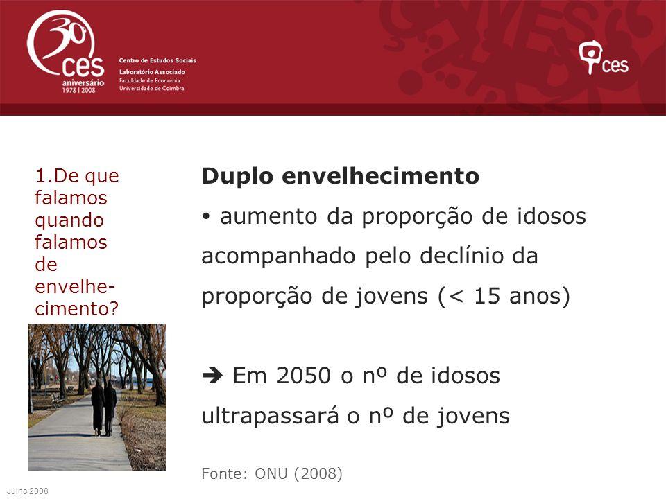 Em 2050 o nº de idosos ultrapassará o nº de jovens