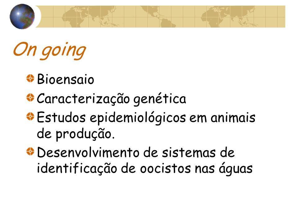 On going Bioensaio Caracterização genética