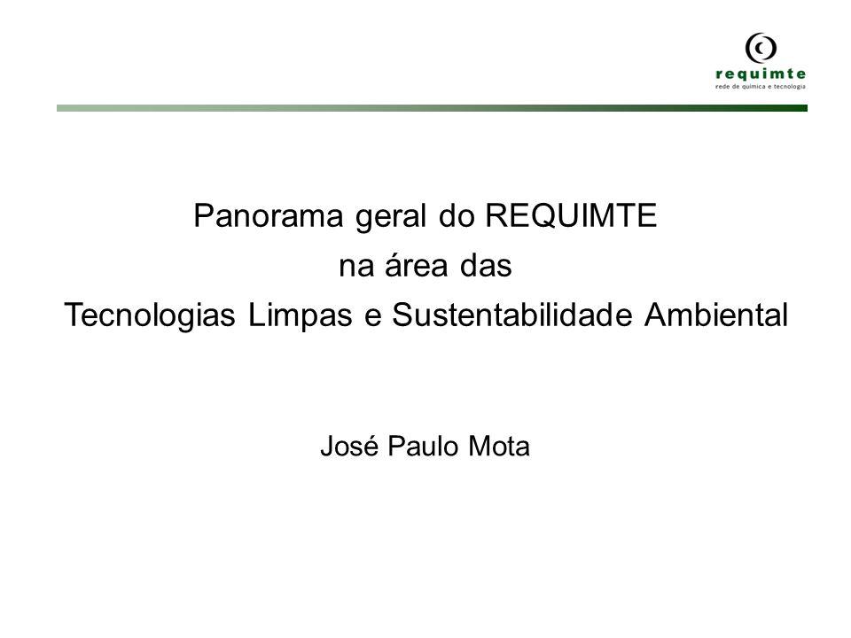 Panorama geral do REQUIMTE na área das Tecnologias Limpas e Sustentabilidade Ambiental